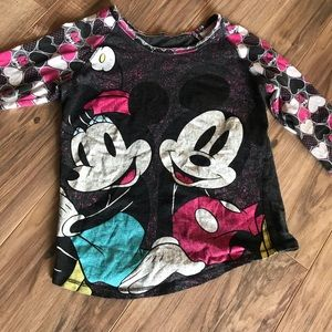 Other - EUC Vintage look Disney top 3/4 length